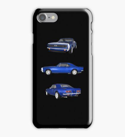 Blue 1967 Camaro SS iPhone Case/Skin