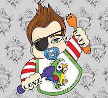 Tattooed Baby 002 - ipad case by TattooedBabies
