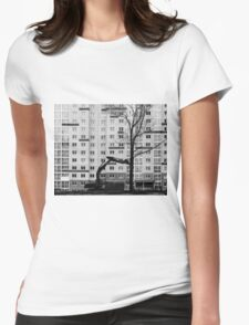Hitachi Digger Destroys a Tree Womens Fitted T-Shirt