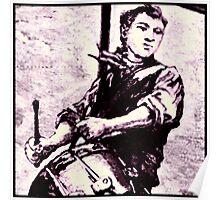 Drumming Lad Poster