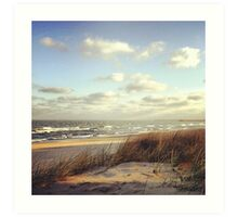 waves in the morning Art Print