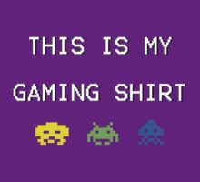 This is my gaming shirt (white on black) by nigredo92