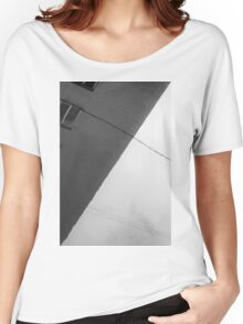 Monochrome Building Abstract 1 Women's Relaxed Fit T-Shirt