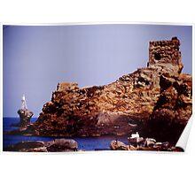 Clifftop Ruin Poster