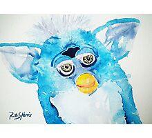 Blue Furby Photographic Print