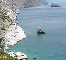Amorgos Island Sea side Chapel : Greece 3 by SlavicaB