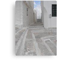 Greek Island empty alley Canvas Print