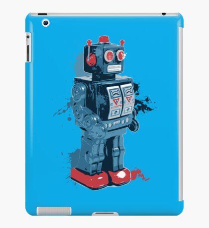 Blue Toy Robot Splattery Shirt iPad Case/Skin