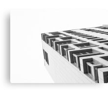 Monochrome Building Abstract 4 Canvas Print