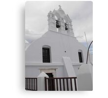 Greek Island Church  Canvas Print