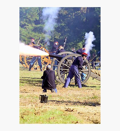 The Battle Of Sucessionville As the Canon went off Photographic Print