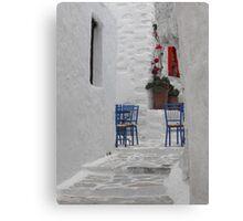 Greek Island empty street Canvas Print