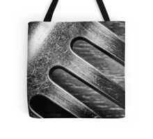 Monochrome Kitchen Fork Abstract Tote Bag