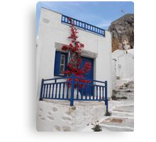 Greek Island house Canvas Print