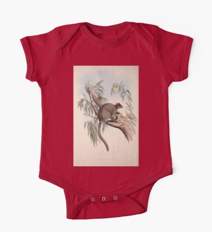 A monograph of the Macropodidæ or family of kangaroos John Gould 1842 027 Dendrolacus Inustus One Piece - Short Sleeve