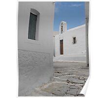 Greek Island empty street 1 Poster