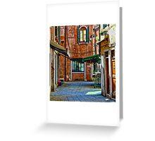 Venice Street Scene Greeting Card
