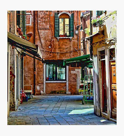 Venice Street Scene Photographic Print