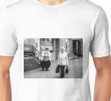 Happy Hamster and Od Woman Monochrome Unisex T-Shirt