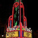 The Old Crest Theater by Barbara  Brown