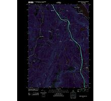 USGS TOPO Map New Hampshire NH North Grantham 20120508 TM Inverted Photographic Print