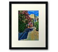 Athens Neighborhood Framed Print