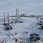 Steely Day on Stage Harbor by Juliane Porter