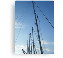 Sailing masts in Blue Sky Canvas Print