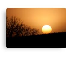 Fall Nebraska Sunset Canvas Print