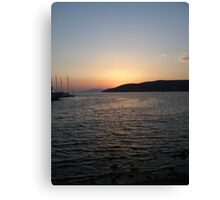 Sunset on the Ocean Canvas Print
