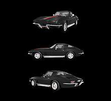 Black 1967 Corvette Stingray by bradyarnold