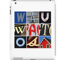 Wauwatosa Letters iPad Case/Skin