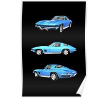 Blue 1967 Corvette Stingray Poster