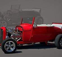 1928 Ford Roadster - BNSF Caboose by TeeMack