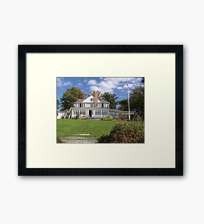 A Home in Chester Framed Print