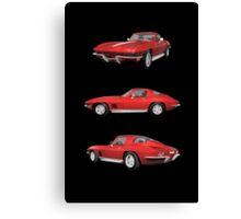 Red 1967 Corvette Stingray Canvas Print