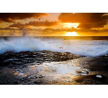 Breaking Waves at Sunset Cliffs San Diego Photographic Print