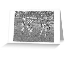 090212 112 0 pen sketch field hockey Greeting Card