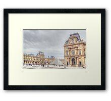 Loving The Louvre Framed Print