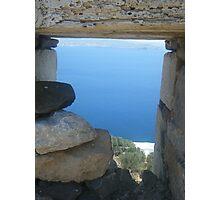 Greek Island Ocean View Photographic Print