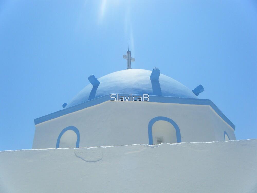 Greek Island Church in Samos by SlavicaB