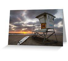 Mission Beach Rescue - San Diego Greeting Card