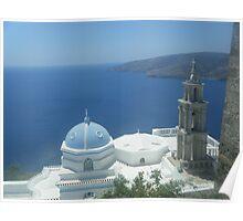 Greek Island Church in Samos 1 Poster