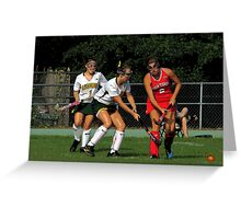 090212 129 1 comic book field hockey Greeting Card
