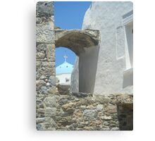 Greek Island Church Samos Canvas Print
