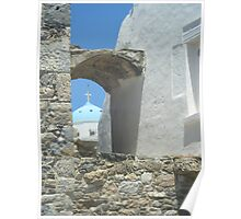 Greek Island Church Samos Poster