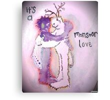 It's a Monster Love Metal Print