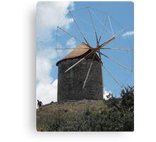 Greek Island Windmill 2 Canvas Print