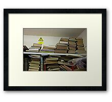 No Heavy Objects At Height! Framed Print