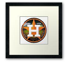 Houston Astros Stadium Logo Framed Print